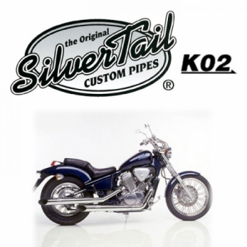mopedtante silvertail k02 auspuff honda vt 600c shadow. Black Bedroom Furniture Sets. Home Design Ideas
