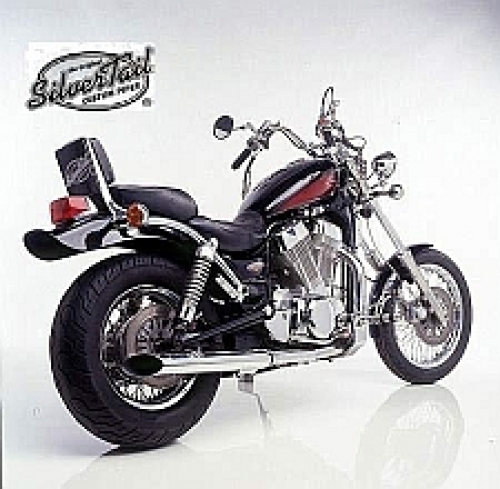 mopedtante silvertail k02 auspuff suzuki vs 1400. Black Bedroom Furniture Sets. Home Design Ideas